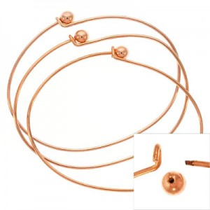 Μπρασελέ Add a Bead 70x53x1.5mm - Copper Plated - 2τεμ