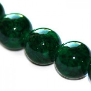 Marble Dyed Round Green Ø6mm ~65τεμ
