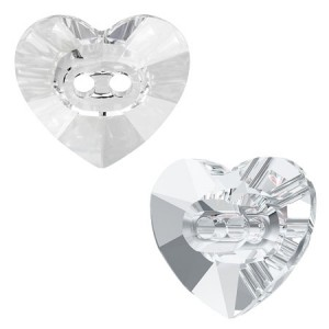 Swarovski 3023 Heart Button Crystal 14x12mm - 2τεμ