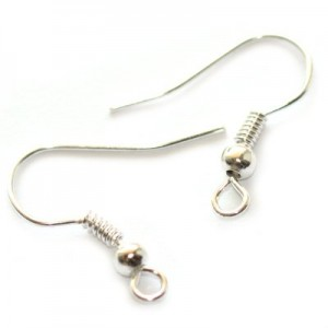 Hook Silver Color με Σπείρα & Θηλιά 19mm - 50τεμ