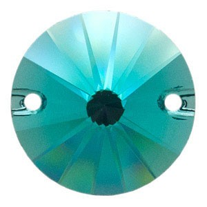 Swarovski 3200 Sew-On Rivoli Blue Zircon Ø10mm - 4τεμ
