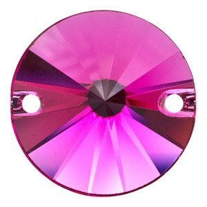 Swarovski 3200 Sew-On Rivoli Fuchsia Ø10mm - 4τεμ