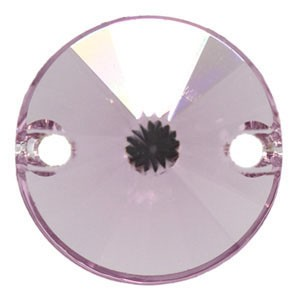 Swarovski 3200 Sew-On Rivoli Light Amethyst Ø10mm - 4τεμ