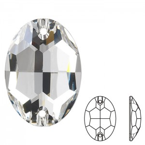 Swarovski 3210 Sew-On Oval Crystal 10x7mm - 2τεμ