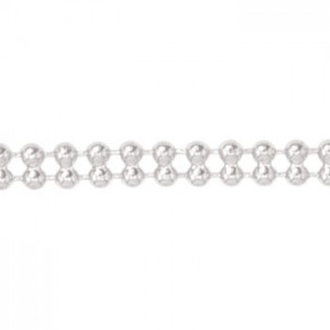 Αλυσίδα Beadalon Small Double Ball 1.5mm - Silver Plated - 1m