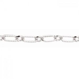 Αλυσίδα Beadalon Oval Link 4.3mm - Silver Plated - 1m