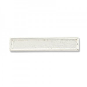 Katiedids 35mm Rectangle 2 Holes - Silver Plated - 6τεμ