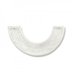 Katiedids 27.5mm Curve 2 Holes - Silver Plated - 7τεμ