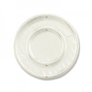 Katiedids Ø25mm Round 4 Holes - Silver Plated - 5τεμ