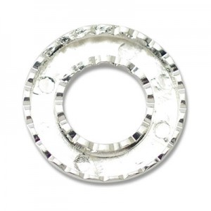 Katiedids Scalloped Ø25mm Round 5 Holes - Silver Plated - 5τεμ
