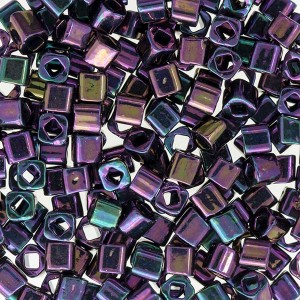 Toho® Χάντρα Cube (Κύβος) 3mm - 85 Metallic Purple Iris ~10gr