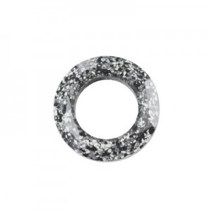 Swarovski 4139 Cosmic Ring Marbled Black 14mm - 1τεμ