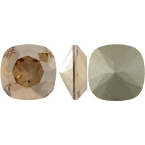 Swarovski 4470 Square Rhinstone Crystal Golden Shadow 10mm - 1τεμ
