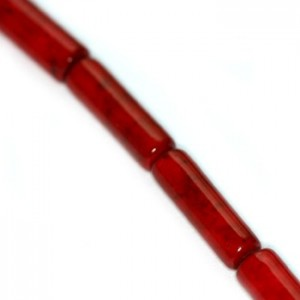 Marble Dyed Tube Red 4x13mm ~30τεμ