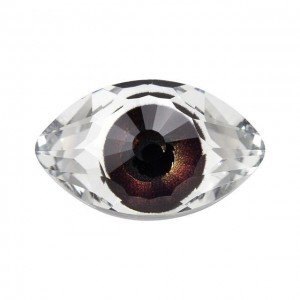 Swarovski 4775 Μάτι Eye Fancy Stone - Crystal / Brown - 18mm - 1τεμ