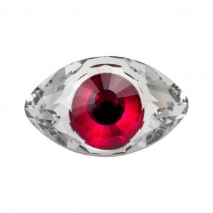 Swarovski 4775 Μάτι Eye Fancy Stone - Crystal / Pink - 18mm - 1τεμ