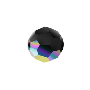 Swarovski 5000 Faceted Round Jet AB 8mm - 6τεμ