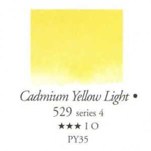 Χρώμα Ακουαρέλας Sennelier Half Pan -  529 Cadmium Yellow Light