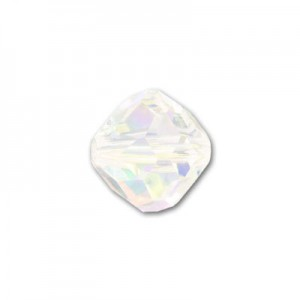 Swarovski 5309 Faceted Rounded Bicone Crystal AB 6mm - 18τεμ