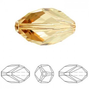 Swarovski 5650 Cubist Crystal Golden Shadow 12x8mm - 2τεμ