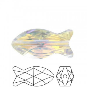 Swarovski® 5727 Fish Bead Crystal AB 14mm - 1τεμ