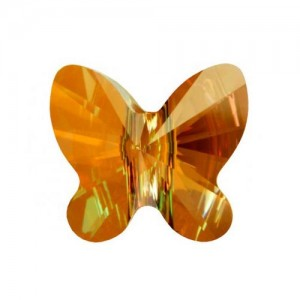 Swarovski 5754 Butterfly Crystal Copper 6mm - 5τεμ