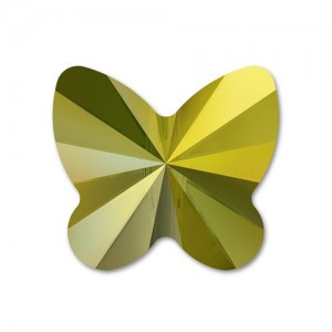 Swarovski 5754 Butterfly Crystal Iridescent Green 6mm - 5τεμ