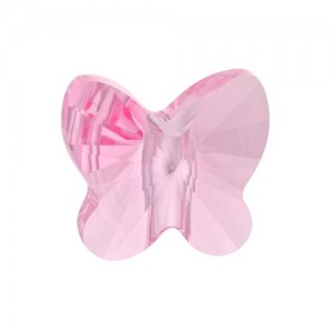 Swarovski 5754 Butterfly Light Rose 6mm - 5τεμ