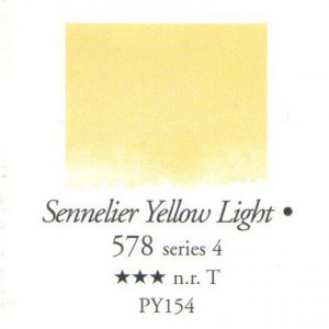 Χρώμα Ακουαρέλας Sennelier Half Pan -  578 Sennelier Yellow Light