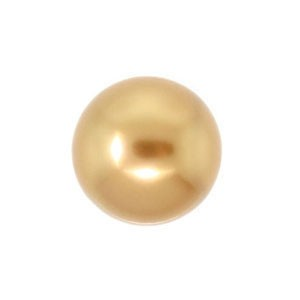 Swarovski 5810 (306) Round Bright Gold Pearl Ø8mm - 25τεμ