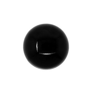 Swarovski 5818 Round Half Drilled Mystic Black Pearl Ø6mm - 10τεμ
