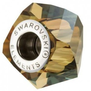 Swarovski 5928 BeCharmed Helix Crystal Bronze Shade 14x10mm - 1τεμ