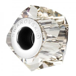 Swarovski 5928 BeCharmed Helix Crystal Silver Shade 14x10mm - 1τεμ
