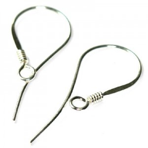 Sterling Silver .925 Hook 25mm - 4τεμ