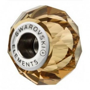 Swarovski 5948 BeCharmed Briolette Light Smoked Topaz 14x10mm - 1τεμ