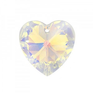 Swarovski Xilion Heart 14.4x14mm Crystal AB 6228 - 4τεμ
