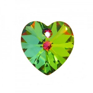 Swarovski Xilion Heart 14.4x14mm Crystal Vitrail Medium 6228 - 4τεμ
