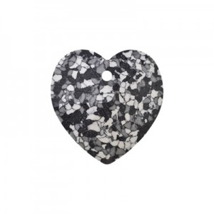 Swarovski Xilion Heart 14,4x14mm Marbled Black 6228Β - 2τεμ