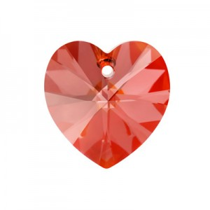 Swarovski Xilion Heart 18x17.5mm Red Magma 6228/001 - 1τεμ