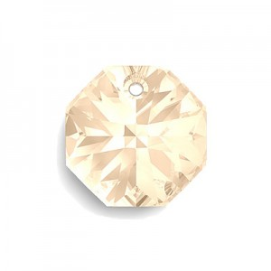 Swarovski 6401 Octagon Crystal Golden Shadow 12mm - 4τεμ