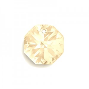 Swarovski 6401 Octagon Crystal Golden Shadow 8mm - 6τεμ
