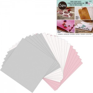 Φύλλα Sizzix Paper Leather - Pastel - 20τεμ