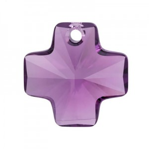 Swarovski 6866 Cross Pendant Amethyst 20mm - 1τεμ