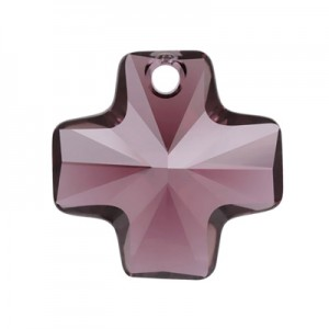 Swarovski 6866 Cross Pendant Burgundy 20mm - 1τεμ