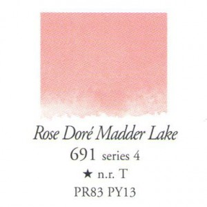 Χρώμα Ακουαρέλας Sennelier Half Pan - 691 Rose Dore Madder Lake
