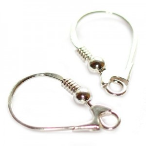 Sterling Silver .925 Hook Closable 18mm - 2τεμ