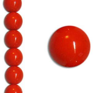 Χάντρα Glass Pearl Party Neon Coral 8mm ~22τεμ