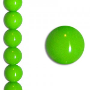 Χάντρα Glass Pearl Party Neon Green 6mm ~29τεμ