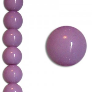 Χάντρα Glass Pearl Party Pale Lilac 8mm ~22τεμ