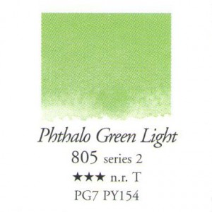 Χρώμα Ακουαρέλας Sennelier Half Pan -  805 Phthalo Green Light